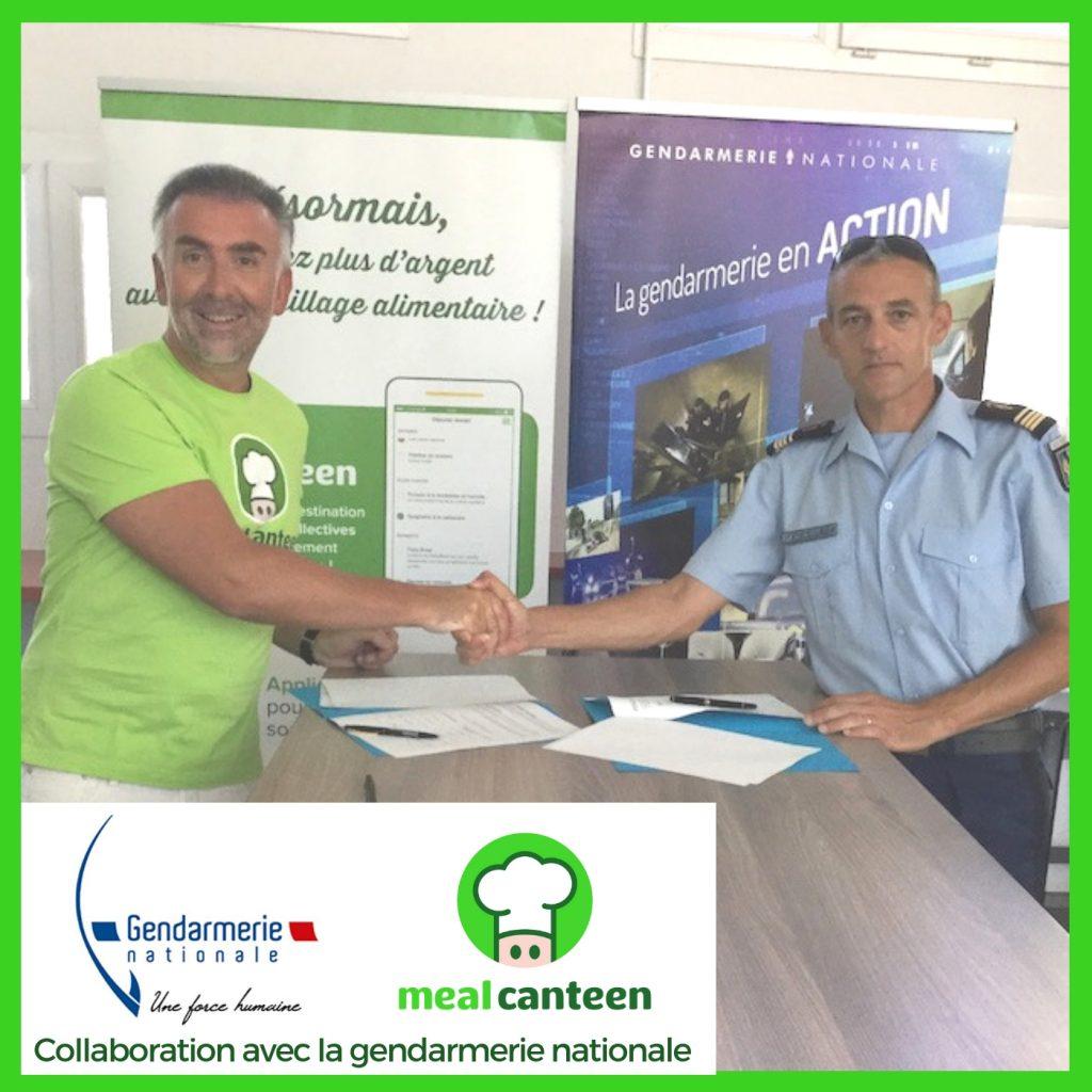 Meal Canteen transforme l'essai avec la signature du 1er contrat avec la @Gendarmerie nationale et le Mess de Sathonay-Camp (77 000 repas annuels)🚀Merci au Chef d'escadron Jean-Henri Bonnel et toute l'équipe du Mess !